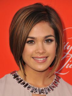 Nicole Gale Anderson's cute bob at Pretty Little Liars Screening this year // Hair by Creighton