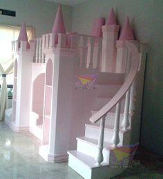 kidsworld.2000@yahoo.com.mx, 01442 690 48 41... INCREÍBLE CASTILLO MAJESTUOSO EN ROSA, SU ESCALERA TAN ELEGANTE QUE LOGRA ESTA CURVA TAN PRONUNCIADA LO HACE SER ÚNICO Y HACER HONOR A SU NOMBRE. #castillo #litera # camas únicas #recamaras para princesas #camas para niñas #rosa