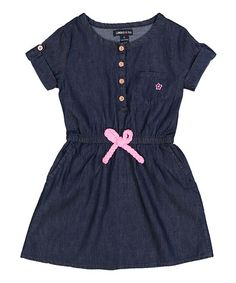 Love this Denim & Pink Henley Dress - Infant, Toddler & Girls by Limited Too on #zulily! #zulilyfinds