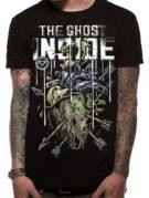 Officially Licensed The Ghost Inside imported T-shirt design printed on a black 100% cotton short sleeved T-shirt.