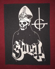 Ghost Cloth Punk Patch by EvilThreadCustoms on Etsy