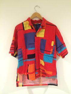 80's Retro Levi's Sport Button Down  Hipster Shirt by RetroRevivalClub