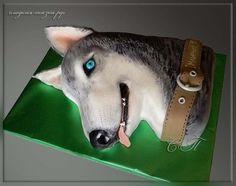 """Cake """"Husky Dog"""""""
