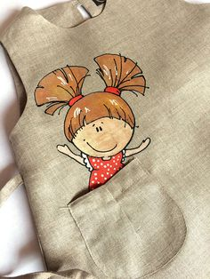 Sewing For Kids Clothes Rainbow baby girl wedding dress Grey linen natural kid Baby Girl Wedding Dress, Wedding Dresses For Girls, Little Girl Dresses, Little Girls, Dress Girl, Dress Wedding, Baby Dress, Girls Dresses, Hand Painted Dress