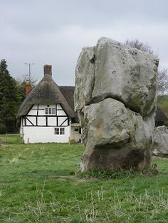 Avebury, Wiltshire, UK and part of the stone circle. There's a bit of sun...let us chase it!