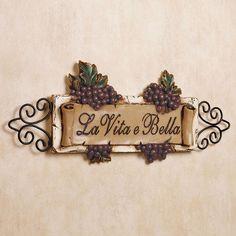 La Vita E Bella Wall Plaque - Vintage