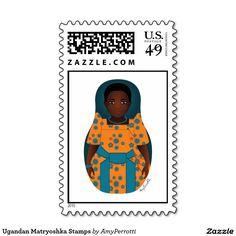 Ugandan Matryoshka Stamps