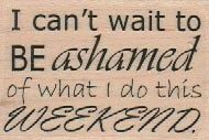 Wood mounted rubber  stamp Quote humor girls fun 18710  Hussy woman | pinkflamingo61 - Craft Supplies on ArtFire