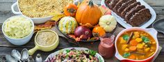 A Thanksgiving meal is a perfect occasion to showcase the variety of seasonal fruits and vegetables available at this time of the year, including winter squashes, cabbage, pomegranates, mandarin oranges, and cranberries. There are so many ways to present these...  Read more