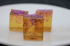 """Sweet as any dessert and dusted in colorful """"confetti,"""" these Butterscotch Jello Shots are definitely ready to party!"""