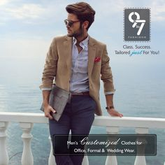 Men's Customized Clothes for Office, Formal & Wedding wear. Tailored just For You! Call: 8080 927 927  Visit us http://www.9to7fashions.com/ ‪#‎Formalwear‬ ‪#‎Menswear‬ ‪#‎Suits‬ ‪#‎Trendyfashion‬ ‪#‎Mumbai‬ ‪#‎Chembur‬