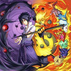 Naruto   Sasuke Naruto   opposite