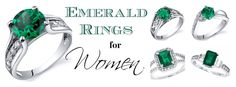 Emerald rings that will knock your socks off! ♥ CLICK HERE for SALE PRICES ♥ http://www.perfect-gift-store.com/emerald-rings-for-women.html