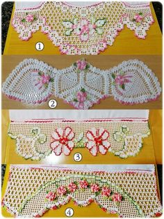 Pillow Edging Crochet pattern by Annemarie Benthem Crochet Lace Edging, Crochet Borders, Filet Crochet, Crochet Doilies, Knit Crochet, Crochet Hats, Crochet Flower Patterns, Crochet Designs, Crochet Flowers