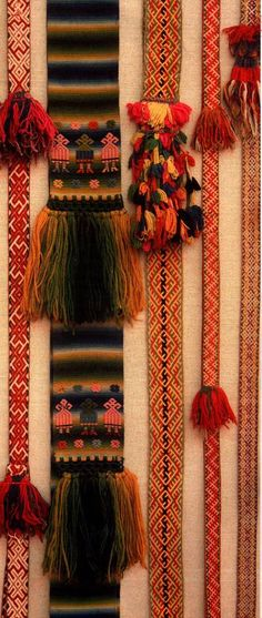 Middle Volga Wedding and Party Belt XIX - early XX century. Inkle Weaving, Inkle Loom, Card Weaving, Tablet Weaving, Textile Texture, Textile Art, Russian Wedding, Indian Prints, Textiles