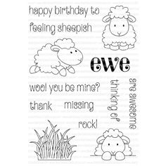 Clearly Besotted FEELING SHEEPISH Clear Stamp Set  Preview Image