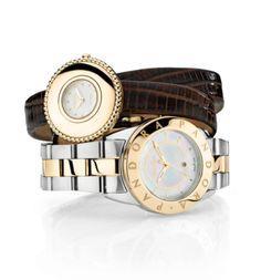 Capri Jewelers Arizona ~ www.caprijewelersaz.com  ~ What's the time? #PANDORAwatch with a splash of gold. What is your timepiece favorite?