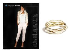 Our Wavy Metallic Bangles can be found on page 110 of Real Simple's December Issue