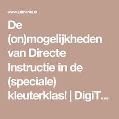 De (on)mogelijkheden van Directe Instructie in de (speciale) kleuterklas! | DigiTAALSpeciaal