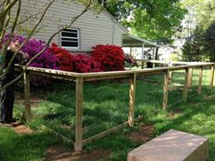 dog fence idea- wood frame with wire mesh