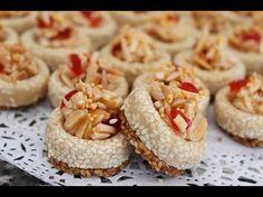 حلويات العيد2019شكل5/حلوة اللوز بريستيج ابهري بيها ضيوفك يوم العيد - YouTube Chaat Recipe, Sweet Box, Arabic Food, Pasta, Coco, Baked Goods, Fondant, Biscuits, I Am Awesome