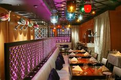 Wild and wonderful restaurant interiors can inspire you to create a unique dining room design for your home. Restaurant Interior Design, Cafe Interior, Restaurant Interiors, Restaurant Lighting, Restaurant Bar, Greenhouse Restaurant, Indian Room, Interior Design Presentation, Indian Interiors