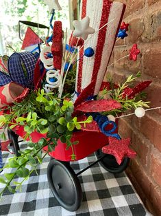 Fourth Of July Decor, 4th Of July Celebration, 4th Of July Decorations, Thanksgiving Decorations, Holiday Decorations, July 4th, Patriotic Crafts, Patriotic Party, Patriotic Bedroom