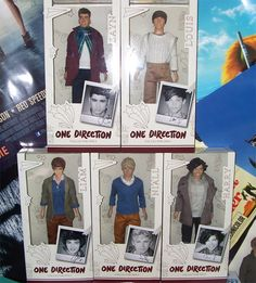 One Direction Dolls.. One Direction, 1D, Harry Styles, Niall Horan, Liam Payne, Zayn Malik, Louis Tomlinson, Hazza, Harreh, Harold, Nialler, DJ Malik, Lou, Tommo .xx