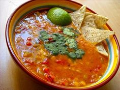 Mexican lentil soup - I made this 10/14 and it was awesome!!!!