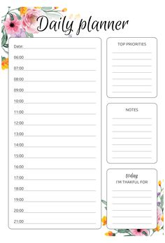 Planner Free, Weekly Hourly Planner, To Do Planner, Daily Planner Pages, Study Planner, Free Daily Planner Printables, Printable Day Planner, Day Planner Template, Weekly Agenda