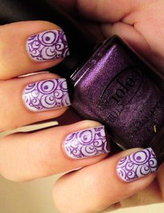 Purple swirl nails | Awesome Nails