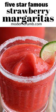 Margarita Recipe Frozen Limeade, Fresh Strawberry Margarita Recipe, Blended Margarita Recipe, Best Margarita Recipe, Frozen Margaritas, Frozen Drinks, Homemade Margaritas, Margarita Mix, Alcohol Drink Recipes