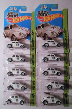 10 - 2014 Hot Wheels Herbie the Love Bug VW Volkswagen Beetle Car Costume, Volkswagen New Beetle, Love Bugs, Hot Wheels, Automobile, Addiction, Sew, Party Ideas, Cars