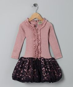 Take a look at this Bare Pink Lace Antoinette Rose Dress - Infant, Toddler & Girls by Sophie Catalou on #zulily today!