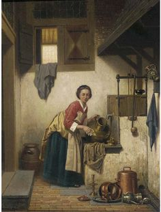 Charles Joseph Grips- A Scullery Maid