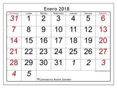 Calendario para imprimir enero 2018 - Oseus