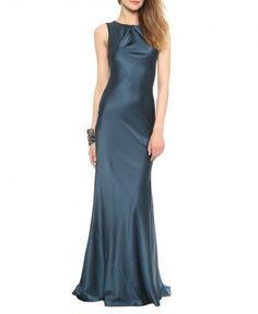 Ocean Blue Cutout Evening Dress - Evening Dress - Dresses