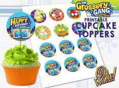 Grossery Gang Theme Cupcake Topper Digital file by OhWowDesign