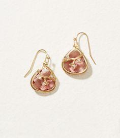LOFT Vine Stone Drop Earrings
