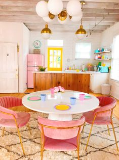 cute colorful kitche