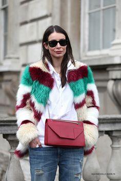 fab fur. Irina in London. #APortablePackage