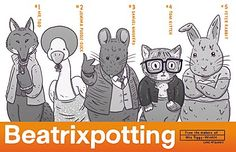 a drawing in which mimics the trainspotting film poster with Beatrix Potter characters substituted.