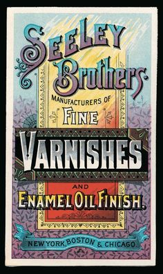 Seeley Brothers Varnishes | Sheaff : ephemera