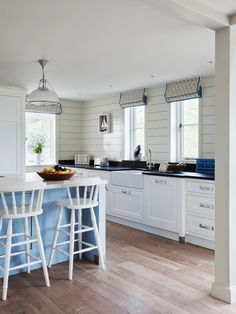 White Shaker Cabinets Galley Kitchen hamptons-style galley kitchen: white shaker cabinets, undermount