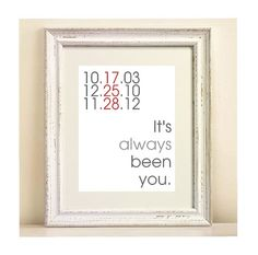 Important Dates Custom Digital Print It's always been by onered, $15.00