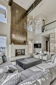 Home Room Design, Dream Home Design, Modern House Design, Living Room Designs, Duplex Design, Design Bedroom, Design Kitchen, Luxury Homes Dream Houses, Luxury Homes Interior