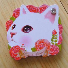 De la cara del gato en forma de auto-Stick Nota (color al azar) – USD $ 4.59