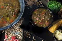 KALE, BLACK-EYES AND PORK JOWL SOUP. Simple Southern ingredients come together in a hearty soup. (All photos credit: George Graham)