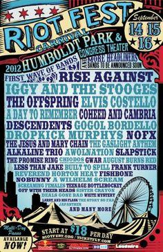 Riot Fest Poster