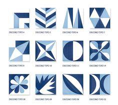 Collection Blu Ponti  Design Gio Ponti  Grès Cérame émaillé Dimensions : 20 x 20 cm x 10 mm 30 Décors aux choix - 5 coloris   CARREMENT VICTOIRE est le distributeur officiel des carreaux Blu Ponti pour Paris et sa région